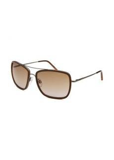 Tod's Women's Square Aviator Light Brown & Gunmetal Sunglasses