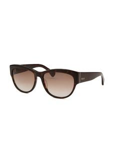 Tod's Women's Square Havana Sunglasses