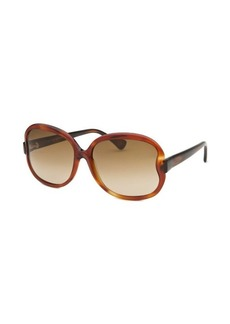 Tod's Women's Square Light Havana Sunglasses