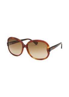 Tod's Women's Square Light Havana Sunglasses
