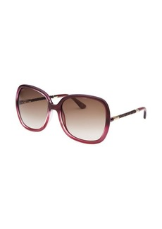 Tod's Women's Square Pink Mother of Pearl Sunglasses