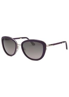 Tod's Women's Square Purple and Silver-Tone Sunglasses