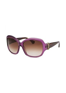 Tod's Women's Square Purple Sunglasses