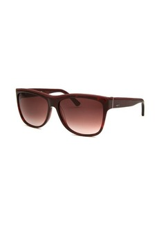 Tod's Women's Square Tortoise and Red Sunglasses