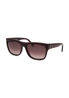 Tod's Women's Square Tortoise and Red Sunglasses Small