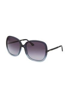 Tod's Women's Square Translucent Blue Sunglasses