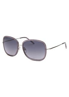 Tod's Women's TO47 Square Dark Grey Sunglasses