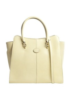 Tod's yellow leather convertible shoulder bag