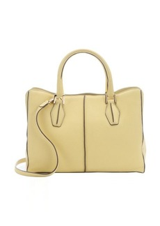 Tod's yellow leather convertible top handle bag