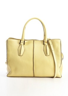 Tod's yellow leather 'D-Cube Medium Shopping' bag