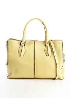 Tod's yellow leather 'D-Cube Medium Shopping' bag