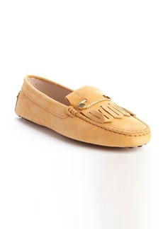Tod's yellow leather 'Heaven Frangia Spilla' loafers