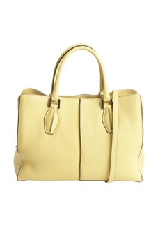 Tod's yellow leather small convertible shoulder bag