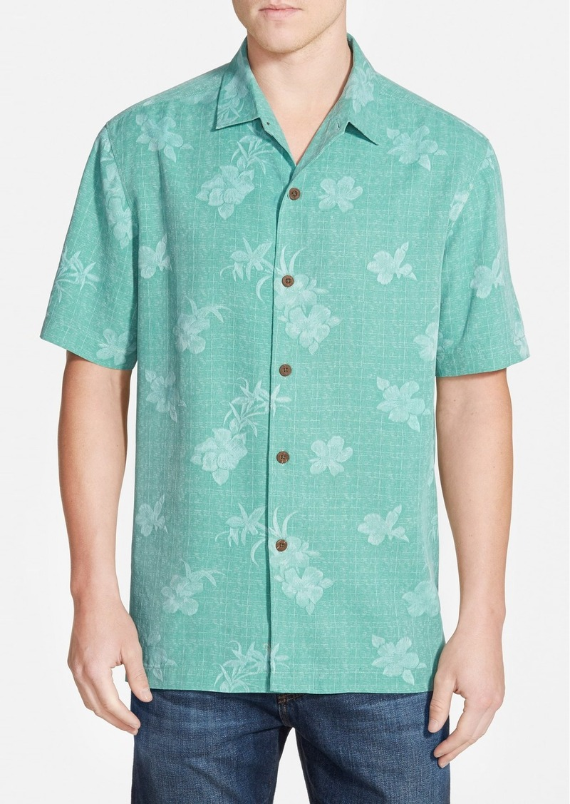 Tommy bahama 39 aloha floral 39 original fit silk camp shirt for Tommy bahama embroidered silk camp shirt