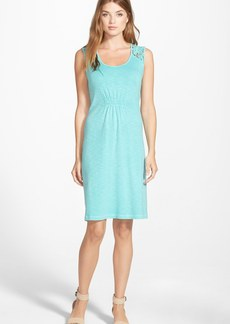 Tommy Bahama 'Ashby' Embroidered Detail Sleeveless Cotton Knit Dress