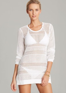 Tommy Bahama Beach Sweater With Side Buttons Swim Cover Up