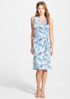 Tommy Bahama 'Blue Palms' Sleeveless Linen Jersey Wrap Dress