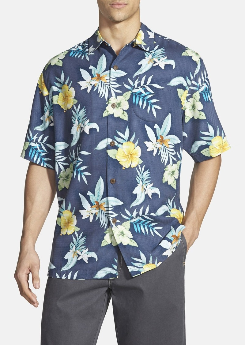 Tommy bahama tommy bahama 39 ethereal blooms 39 original fit for Tommy bahama short sleeve silk camp shirt