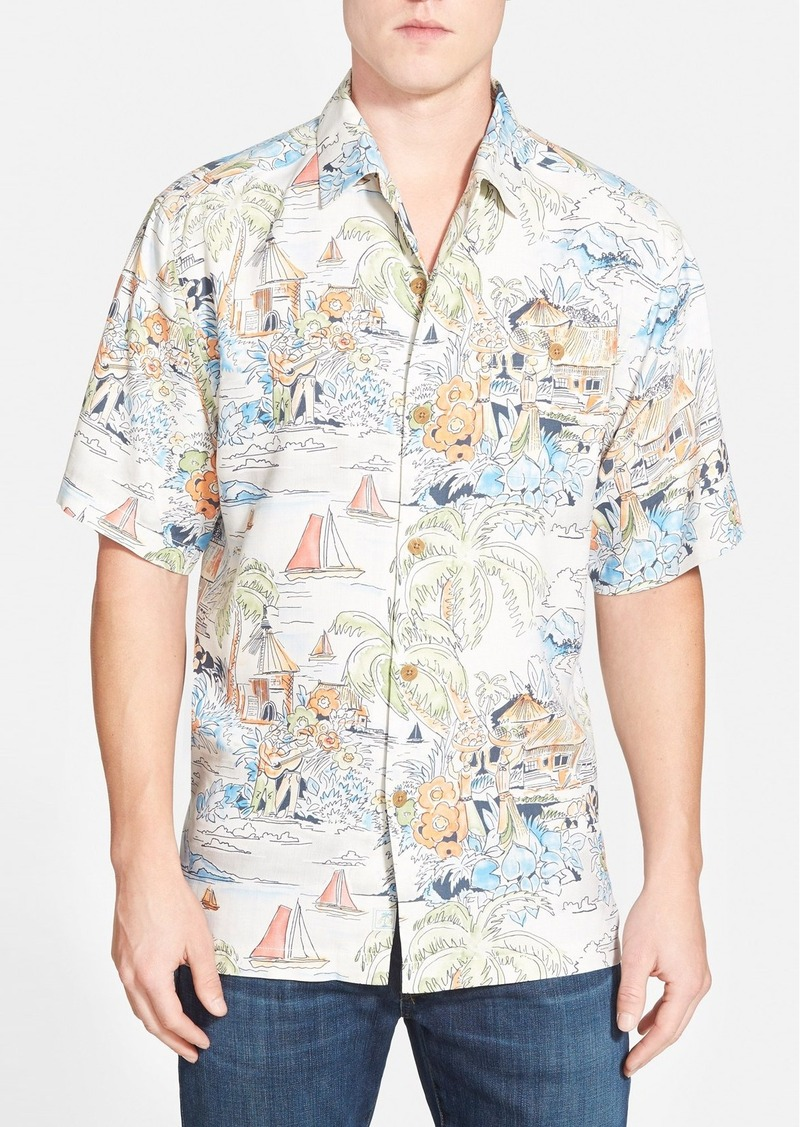 Tommy bahama tommy bahama 39 have you scenic 39 silk camp for Tommy bahama embroidered silk camp shirt