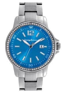 Tommy Bahama 'Island Breeze' Crystal Bezel Bracelet Watch, 33mm