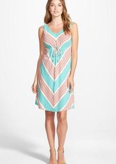 Tommy Bahama 'Keefe' Stripe Tie Detail Sleeveless Jersey Dress