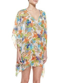 Tommy Bahama Map & Floral-Print V-Neck Coverup Tunic