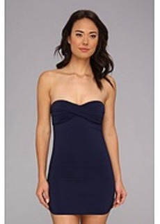 Tommy Bahama Pearl Solids Shirred Twist Front One-Piece