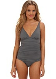Tommy Bahama Pearl Solids V-Neck Cup One-Piece