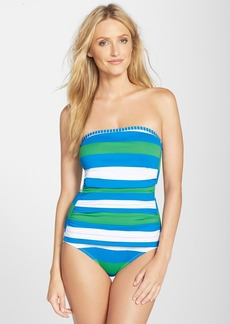 Tommy Bahama Rugby Stripe Bandeau One-Piece Swimsuit