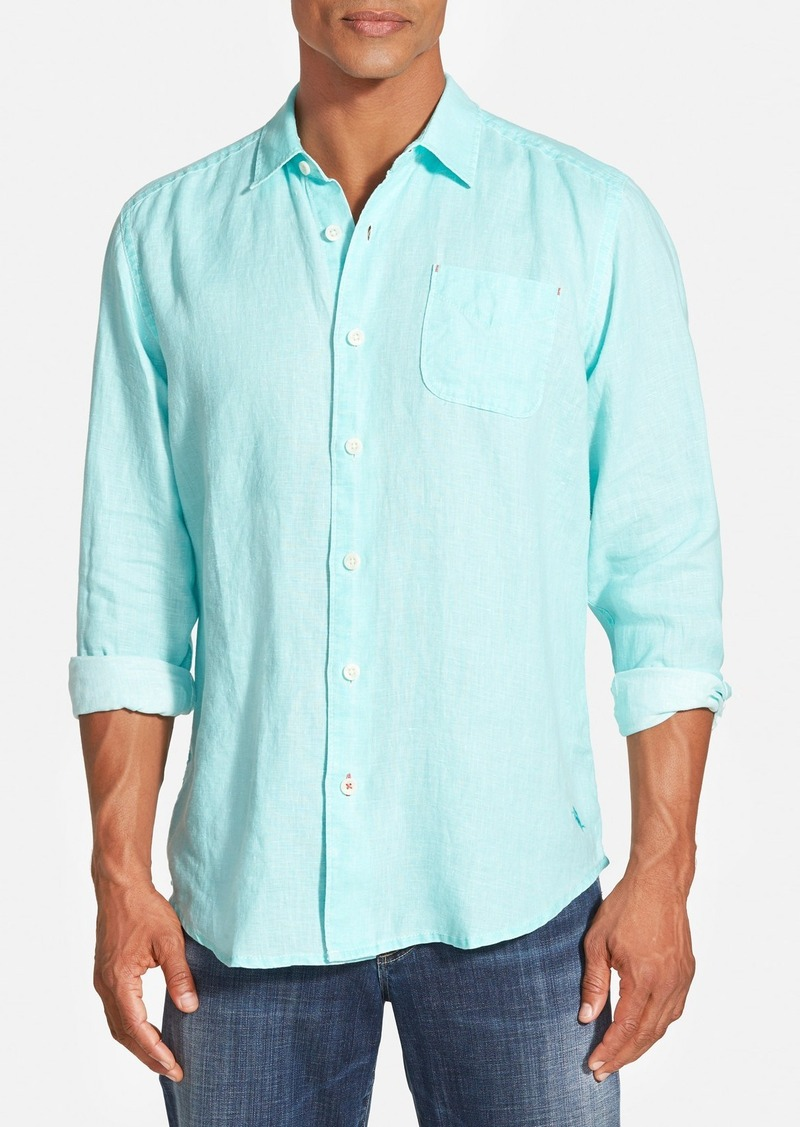 Tommy bahama tommy bahama 39 sea glass 39 linen sport shirt for Big and tall casual shirts
