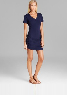 Tommy Bahama Solid Knit V Neck T Shirt Swim Cover Up Dress