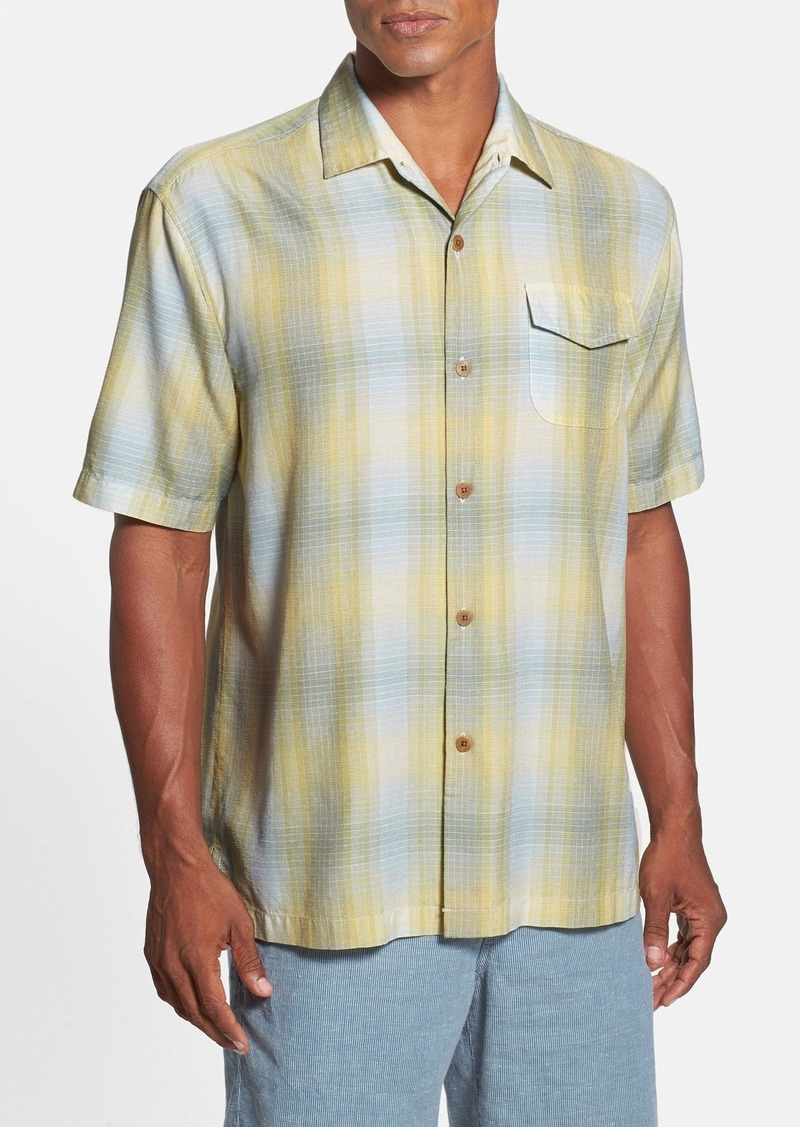 Tommy bahama tommy bahama 39 tropic wind plaid 39 original fit for Do tommy bahama shirts run big