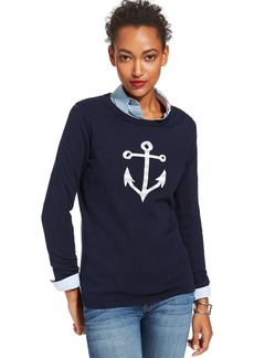 Tommy Hilfiger Anchor-Print Sweater
