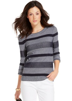 Tommy Hilfiger Boat-Neck Textured Knit Sweater