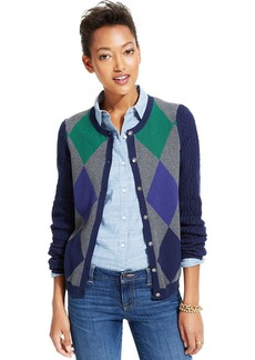 Tommy Hilfiger Cable-Knit Argyle Cardigan