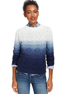 Tommy Hilfiger Cable-Knit Ombre Sweater