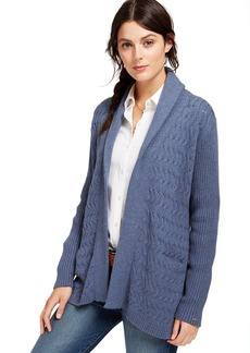 Tommy Hilfiger Cable-Knit Open-Front Cardigan