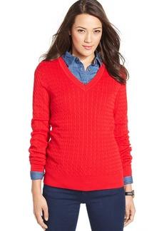 Tommy Hilfiger Cable-Knit V-Neck Sweater