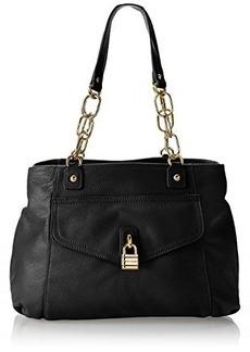 Tommy Hilfiger Chain Lock Shopper Pebble Shoulder Bag