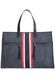 Tommy Hilfiger Collection T Washed Canvas Large Tote