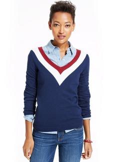 Tommy Hilfiger Colorblocked V-Neck Sweater
