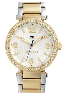 Tommy Hilfiger Crystal Bezel Bracelet Watch, 32mm
