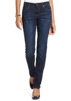 Tommy Hilfiger Curvy-Fit Straight-Leg Jeans, Dark Wash
