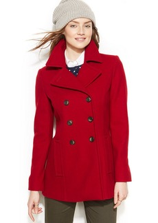 Tommy Hilfiger Petite Double-Breasted Pea Coat