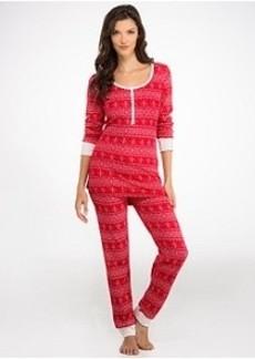 Tommy Hilfiger Fairisle Thermal Knit Pajama Set