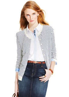 Tommy Hilfiger Gingham-Print Cardigan Sweater