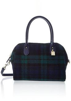 Tommy Hilfiger Heritage Lock Plaid Wool 6925575 Top Handle Bag