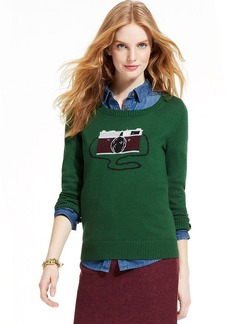 Tommy Hilfiger Intarsia-Knit Camera-Print Sweater
