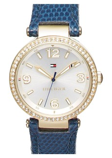 Tommy Hilfiger Leather Strap Watch, 32mm