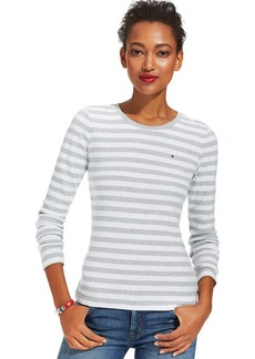 Tommy Hilfiger Long-Sleeve Striped Crew-Neck Tee